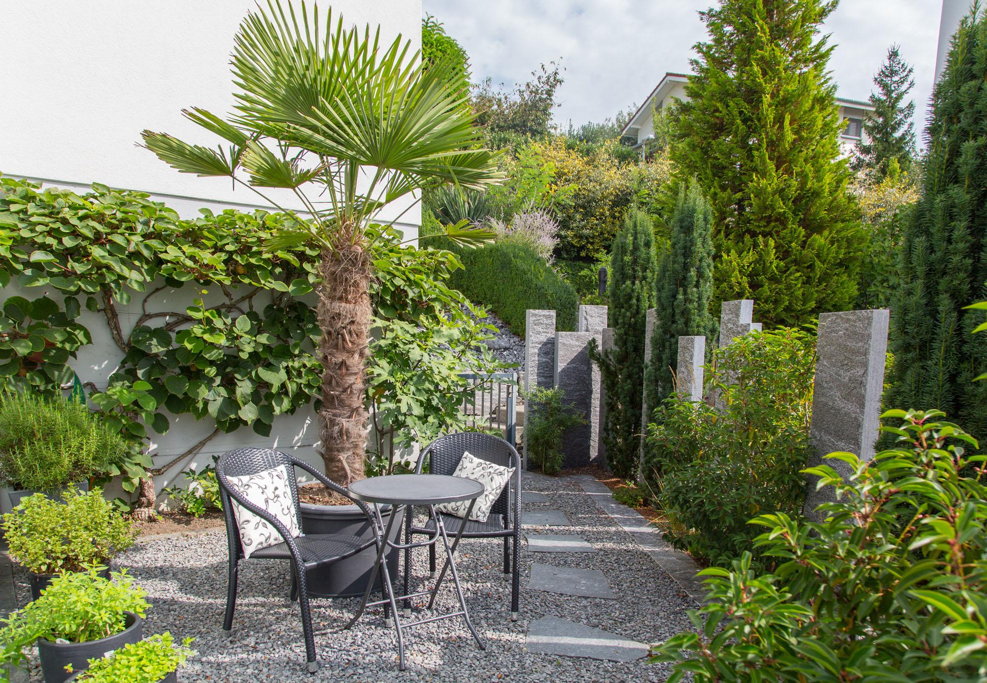 Mit Pflanzen entstehen Oasen. Wohlfühlgarten Portmann hilft Ihnen bei der Wahl!