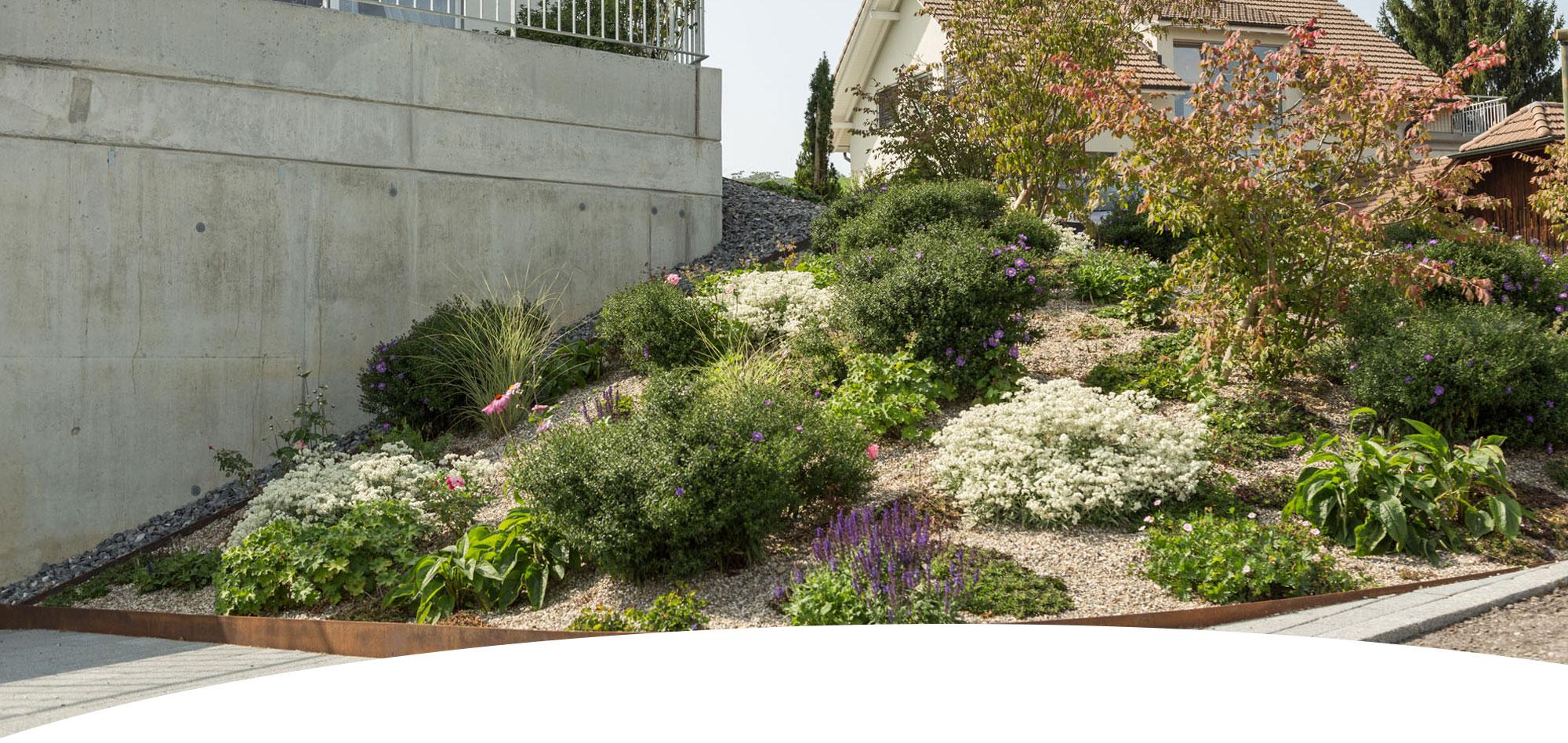 Für die richtige Bepflanzung im Garten sorgt die Wohlfühlgarten Portmann GmbH.