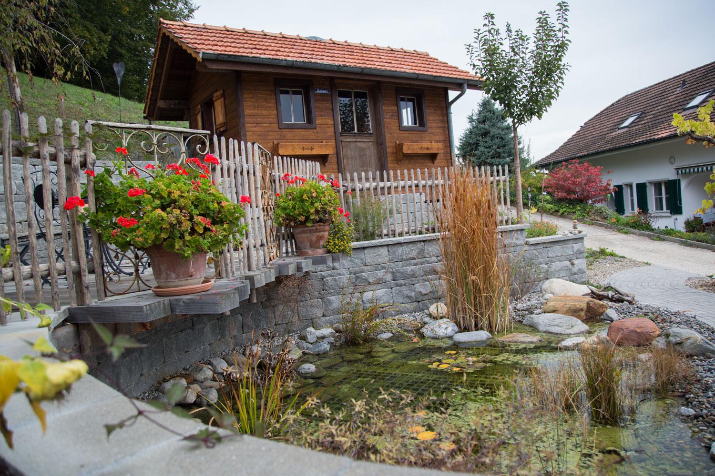 Wasser bereichert die Wohlfühlzone. Wohlfühlgarten Portmann hilft Ihnen dabei!